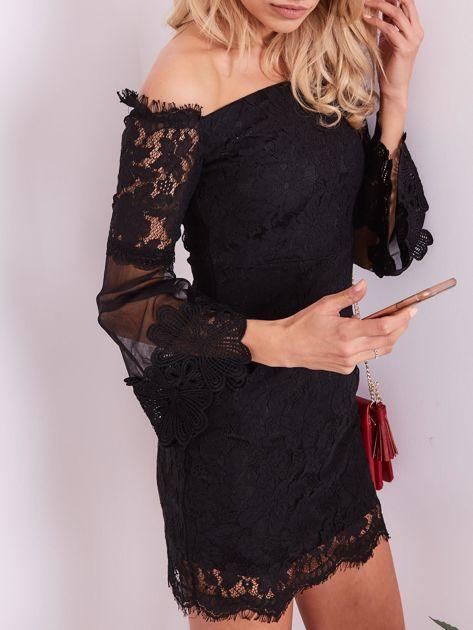 Czarna koronkowa sukienka                              zdj.                              6