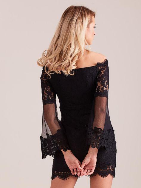 SCANDEZZA Czarna koronkowa sukienka                              zdj.                              3