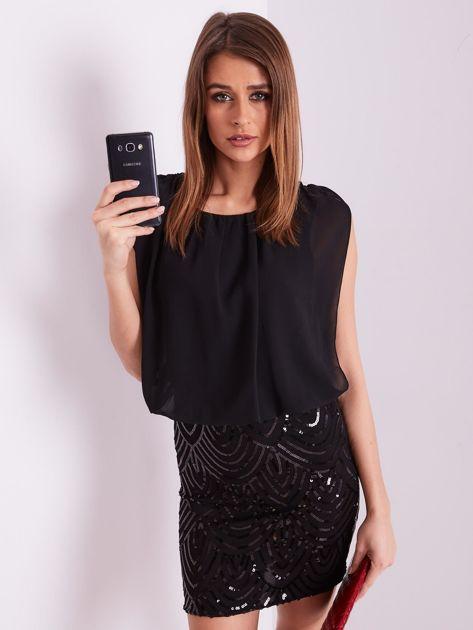 Czarna sukienka z cekinami                              zdj.                              7