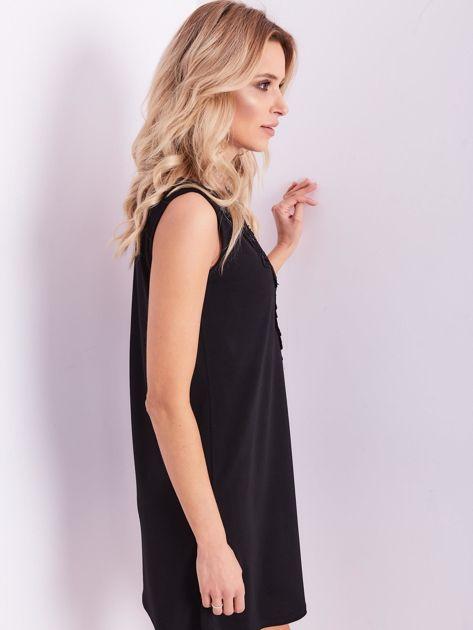 Czarna sukienka z koronką                              zdj.                              7