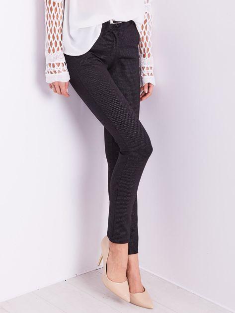 Czarne spodnie w delikatne groszki                              zdj.                              4
