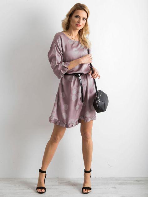 Sukienka we wzory fioletowa                               zdj.                              4