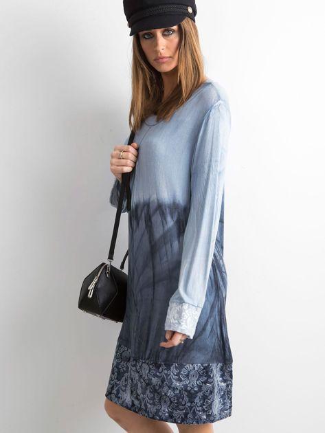 Sukienka z cekinami niebieska                              zdj.                              3