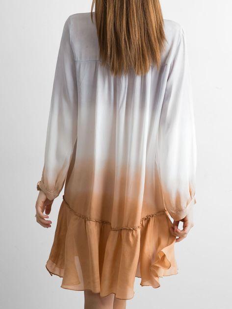 Szara sukienka ombre                               zdj.                              2