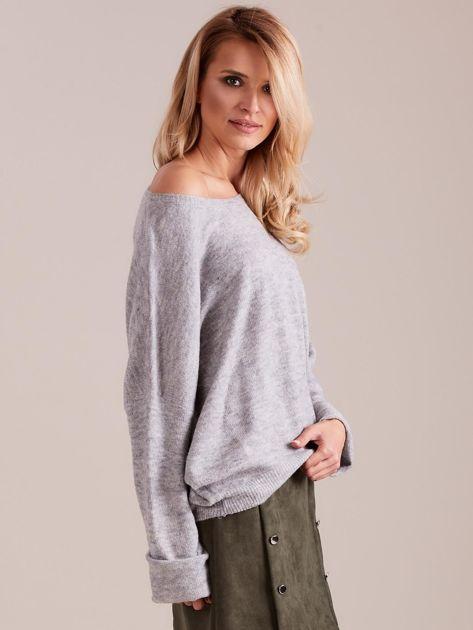 Szary dzianinowy sweter                              zdj.                              5
