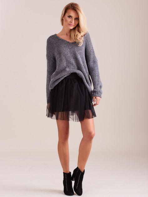 Szary luźny sweter                               zdj.                              1