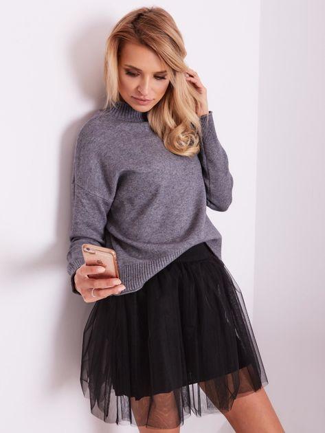 Szary sweter damski                              zdj.                              7