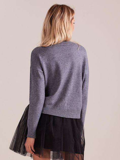 SCANDEZZA Szary sweter damski                              zdj.                              3