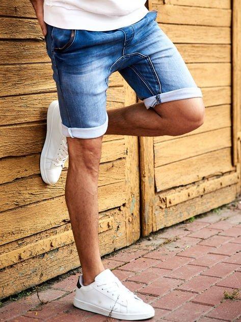 SCOTFREE Niebieskie jeansowe szorty męskie                              zdj.                              3