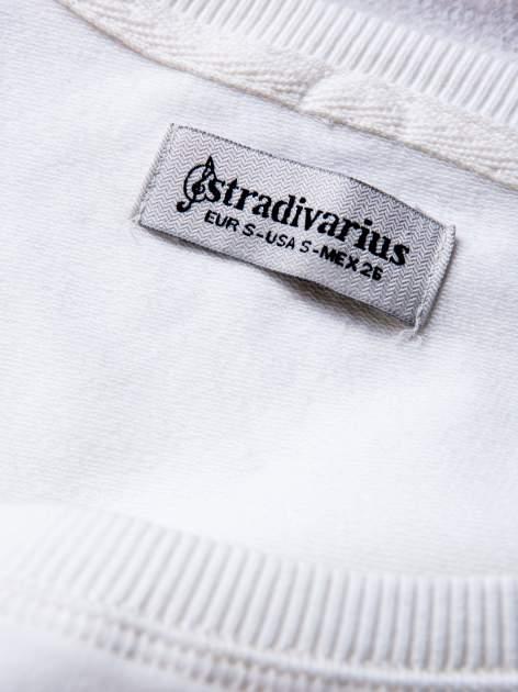STRADIVARIUS Biała bluza z zamkami                                  zdj.                                  3