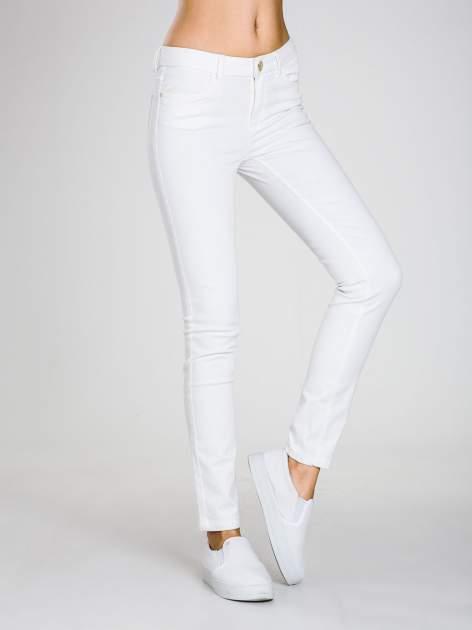 STRADIVARIUS Białe spodnie skinny typu rurki                                  zdj.                                  1