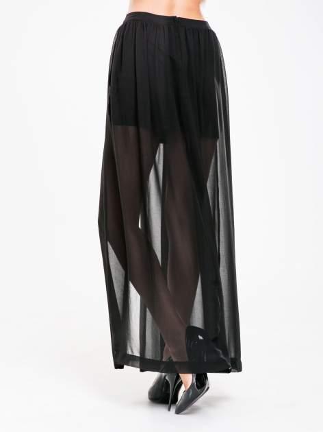 STRADIVARIUS Czarna spódnica maxi z transparentnego materiału                                  zdj.                                  2