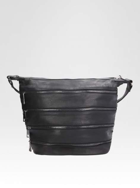 STRADIVARIUS Czarna torba z zipami