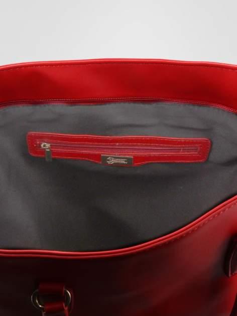 STRADIVARIUS Czerwona torba shopper bag                                  zdj.                                  3