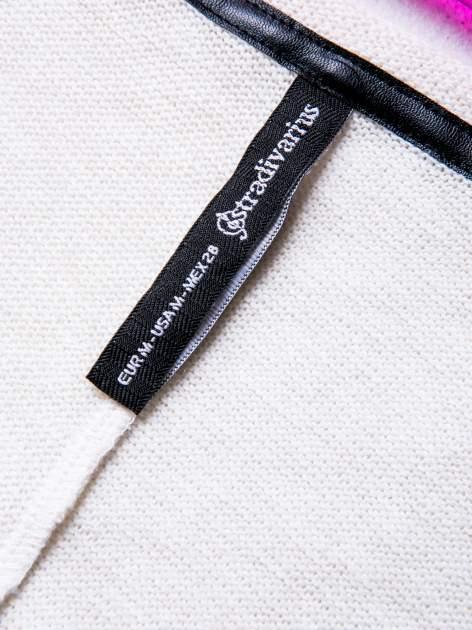 STRADIVARIUS Ecru bluzka sweterek typu cropped                                  zdj.                                  3