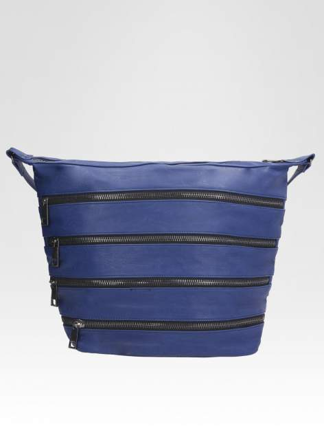 STRADIVARIUS Granatowa torba z zipami                                  zdj.                                  1