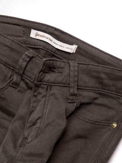 STRADIVARIUS Khaki spodnie skinny typu rurki                                  zdj.                                  3