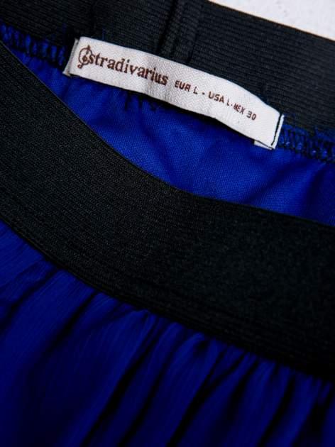STRADIVARIUS Kobaltowa spódnica mini                                  zdj.                                  3