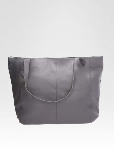 STRADIVARIUS Szara torba shopper bag                                  zdj.                                  1