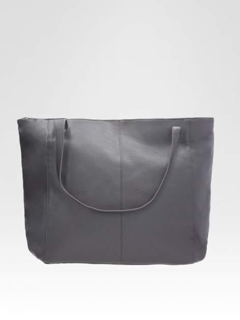 STRADIVARIUS Szara torba shopper bag                                  zdj.                                  2