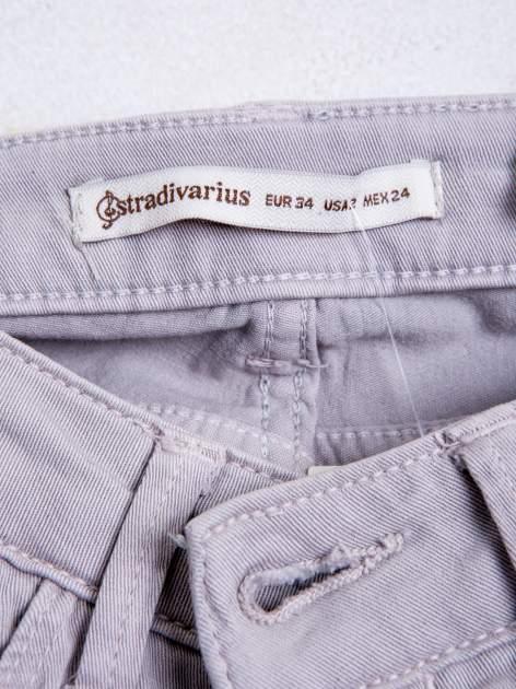 STRADIVARIUS Szare spodnie skinny typu rurki                                  zdj.                                  3
