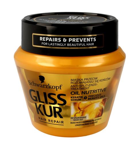 Schwarzkopf Gliss Kur Oli Nutritive Maska przeciwdziałająca rozdwajaniu włosów  300ml