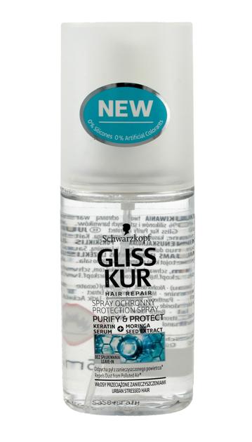 """Schwarzkopf Gliss Kur Purify & Protect Spray ochronny do włosów 75ml"""""""