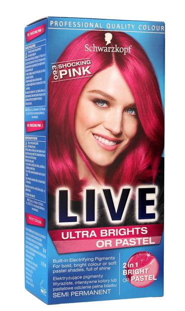 """Schwarzkopf Live Krem koloryzujący 2w1 nr 093 Shocking Pink Szokujący Róż  1op."""""""
