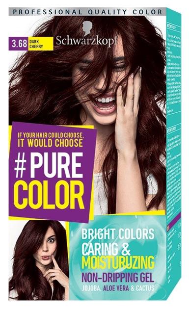 """Schwarzkopf Pure Color Farba do włosów w żelu nr 3.68 Dark Cherry  1op."""""""