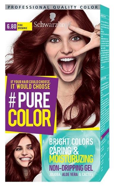 """Schwarzkopf Pure Color Farba do włosów w żelu nr 6.80 Pink Brownie  1op."""""""