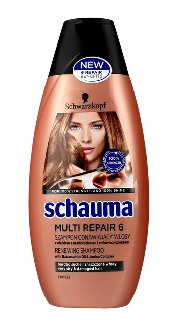 """Schwarzkopf Schauma Multi Repair 6 Szampon odnawiający włosy suche i zniszczone  400ml"""""""