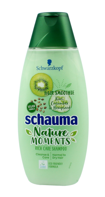 """Schwarzkopf Schauma Nature Moments Szampon do włosów suchych i normalnych-Kiwi&Ogórek 400ml"""""""