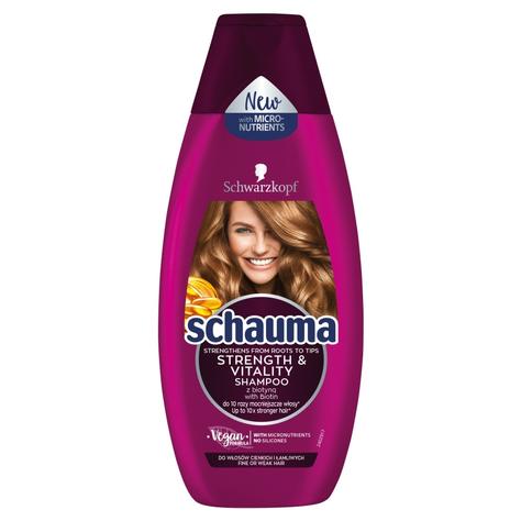 """Schwarzkopf Schauma Szampon do włosów Strength & Vitality - włosy cienkie i łamliwe   400ml"""""""