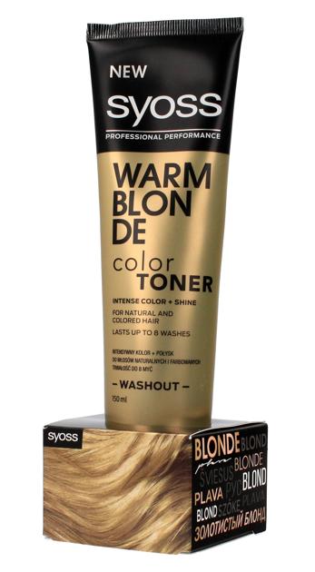 """Schwarzkopf Syoss Color Toner Krem tonujący do włosów - Warm Blonde  150ml"""""""