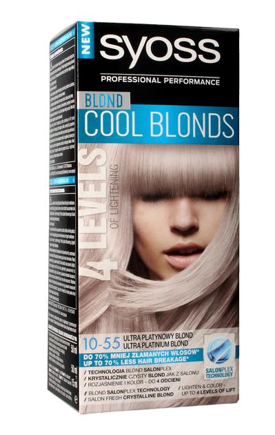 """Schwarzkopf Syoss Farba do włosów Cool Blonds 10-55 Ultra Platynowy Blond  1op."""""""