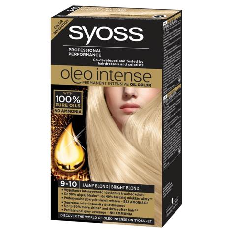 """Schwarzkopf Syoss Farba do włosów Oleo 9-10 jasny blond  1op."""""""