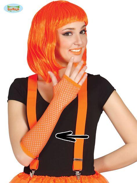 Siatkowe rękawiczki pomarańczowe                              zdj.                              1