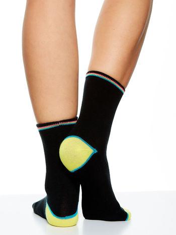 Skarpetki damskie czarne kolorowa stopa i palce mix 5 par                                  zdj.                                  4