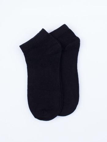 Skarpetki damskie stopki czarny basic zestaw 2 pary