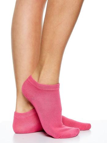 Skarpetki damskie stopki gładkie różne kolory mix 5 par                                  zdj.                                  2
