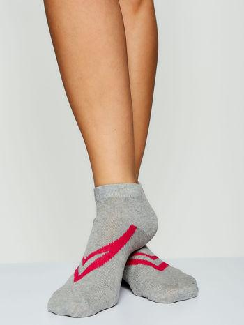 Skarpetki damskie stopki gładkie z geometrycznym nadrukiem mix 5 par                                  zdj.                                  3