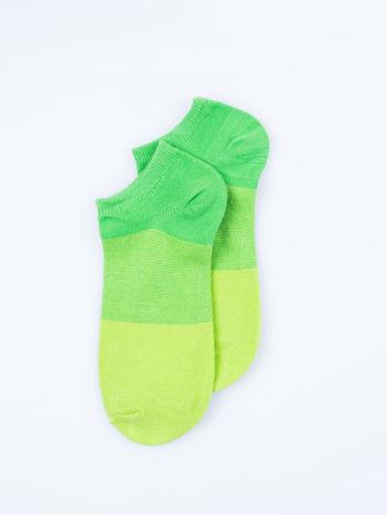 Skarpetki damskie stopki zielony-szary zestaw 2 pary                                  zdj.                                  5