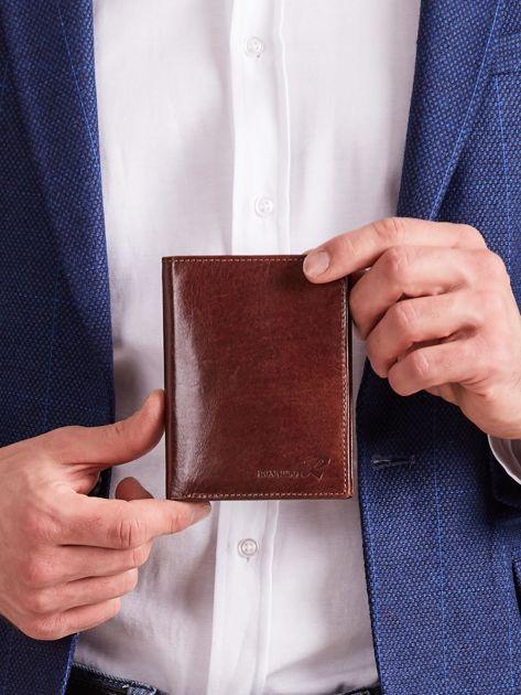 Skórzany portfel dla mężczyzny brązowy