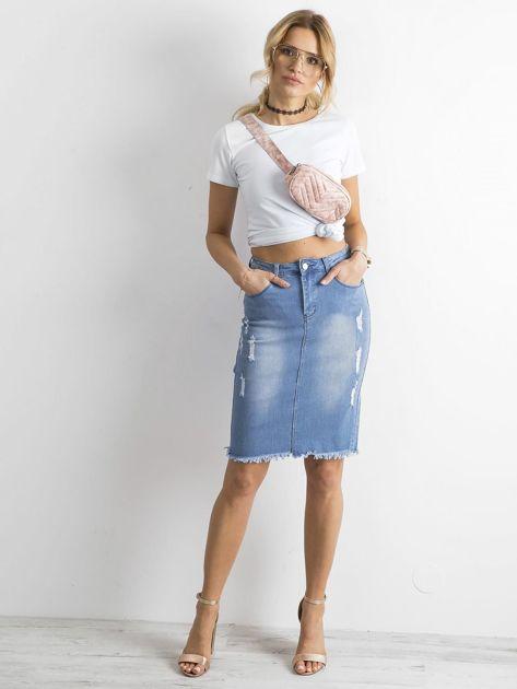 Spódnica jeansowa niebieska                              zdj.                              4