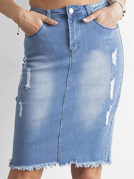 Spódnica jeansowa niebieska                              zdj.                              1