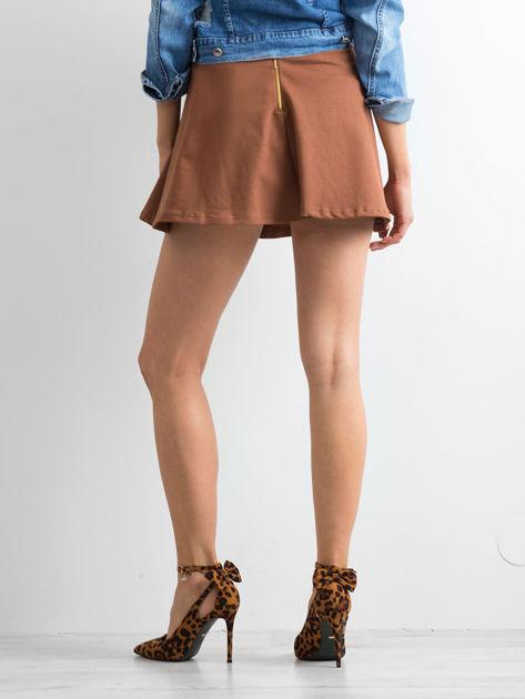 Spódnica rozkloszowana brązowa                              zdj.                              2