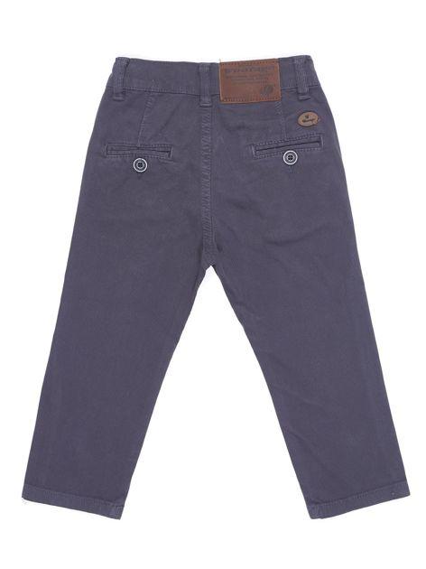 Spodnie chłopięce materiałowe ciemnoszare                              zdj.                              3