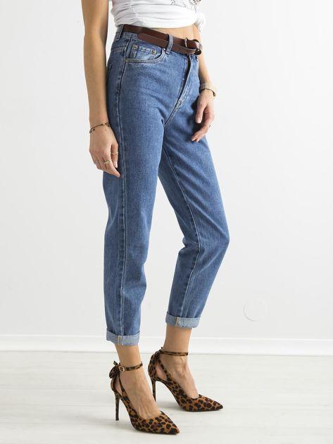 Spodnie damskie mom jeans niebieskie                               zdj.                              3