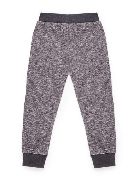 Spodnie dresowe chłopięce z nadrukiem szare