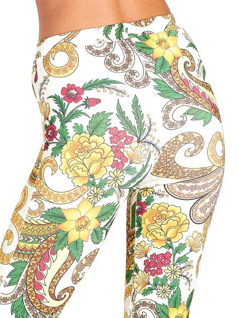 Spodnie dzwony we wzór kwiatowy                                  zdj.                                  7